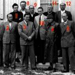 1 Otto Müller sen.;2 Willi Stemmler sen.;3 Egon Ulmer;4 Karl Weigelt;5 Dornfeld sen.;6 Dornfeld jun.;7 Kurt Müller jun.;8 Karl Müller;9 Eugen Wirth;10 Peter Stemmler jun.;11 Zifle;12 Stiefelreiter; nicht im Bild: Max Pfeffer, Adolf Strobel